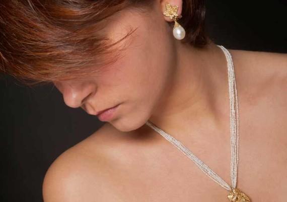 Parure Perle, oro giallo e smalti