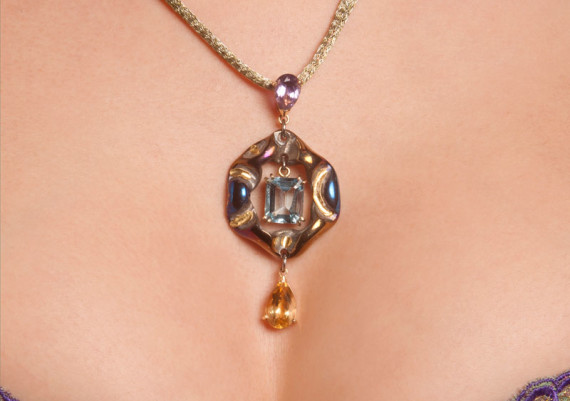 The  Blue Heart Pendant from  the Contemporary  Renaissance Line